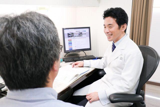 生活習慣病外来の様子。高血圧や脂質異常症、痛風などの診察を行なっています。